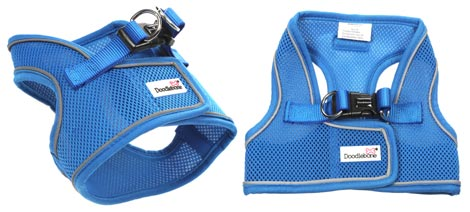 vest style air mesh dog harness with back fastening - not over the head