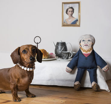 Theresa May dog toy by Pet Hates Toys