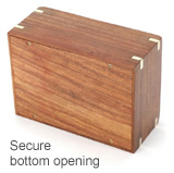urn secure bottom opening