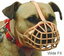 wide fit dog muzzle