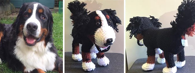 your dog as a cuddly crochet toy